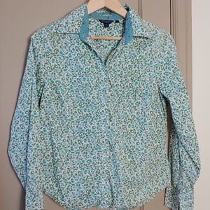 Boden Floral Button Long Sleeve Top